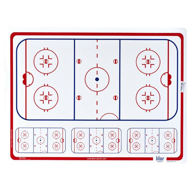 BLUE SPORTS Taktiktafel 81 x 61 cm - 4mm stark