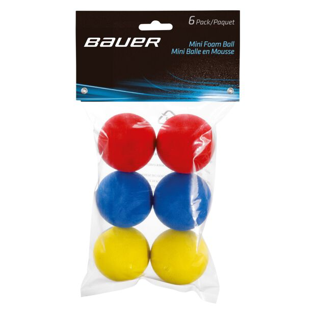 BAUER Mini Schaum Ball - 6er Pack